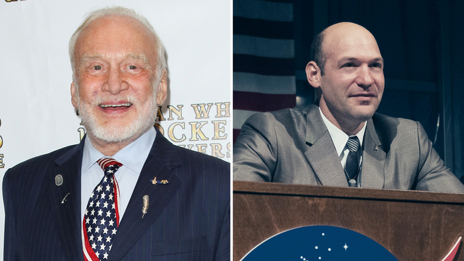 Buzz Aldrin Corey Stoll_First Man - Getty - H Split 2018