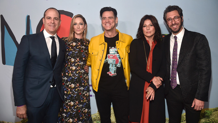 David Nevins Judy Greer Jim Carrey Catherine Keener and Dave Holstein at 'Kidding' Premiere - Getty - H 2018