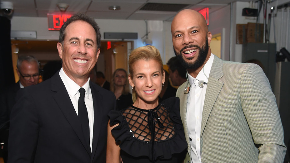 Jerry Seinfeld, Jessica Seinfeld, and Common attend the 2018 GOOD+ Foundation Event -Getty-H 2018