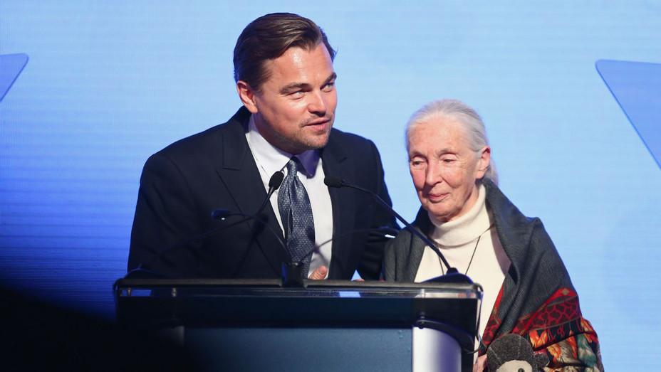 Leonardo DiCaprio and Jane Goodall - Getty - H 2018