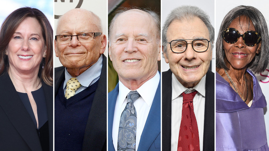 KATHLEEN KENNEDY, MARVIN LEVY, FRANK MARSHALL, LALO SCHIFRIN AND CICELY TYSON - Getty - H Split 2018