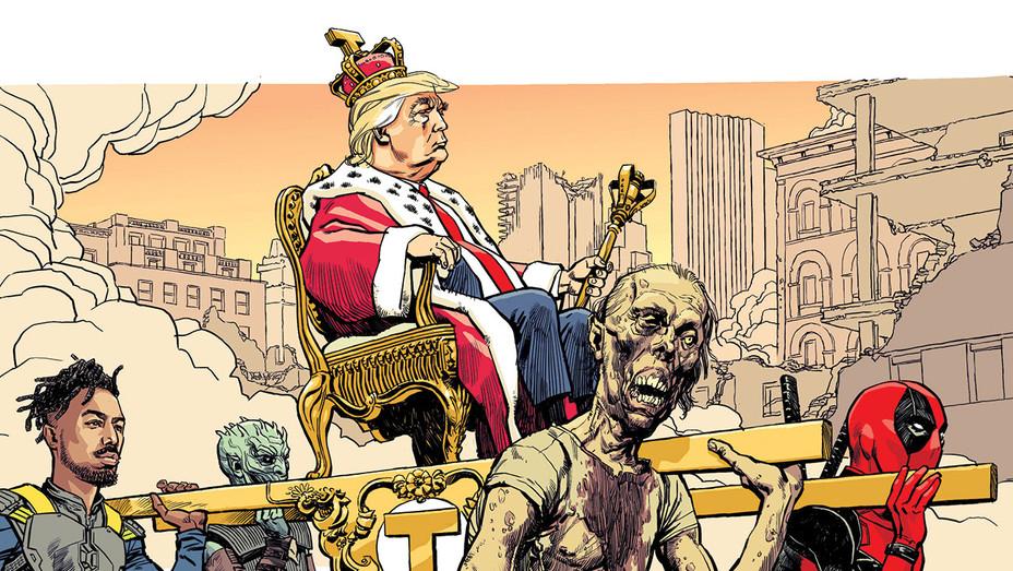 King Trump Illo - THR - H 2018