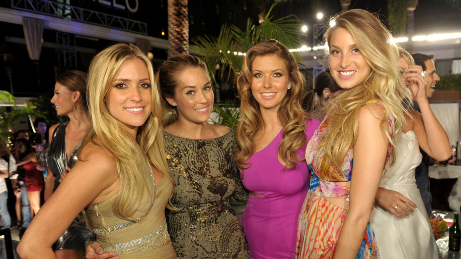 Kristin Cavallari, Lauren Conrad, Audrina Patridge and Whitney Port attend MTV's 'The Hills Live- A Hollywood Ending' - Getty - EMBED
