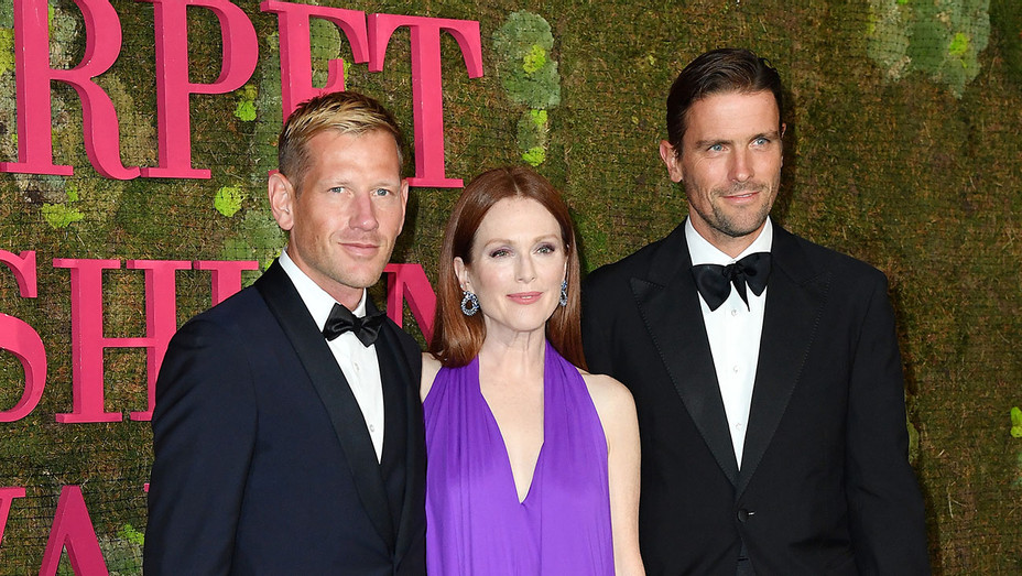 Paul Andrew, Julianne Moore and James Ferragamo - Getty - H 2018