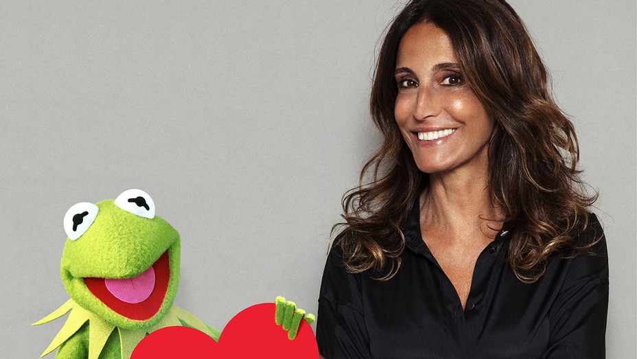 Sandro Launches Collab with Kermit the Frog - Kermit and Evelyne Chétrite-Publicity-H 2018