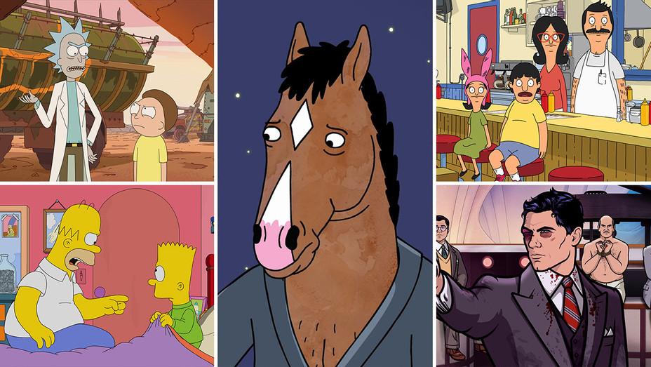 Rick and Morty, Bojack Horseman, Archer, The Simpsons, Bob's Burgers_Split - Publicity - H 2018