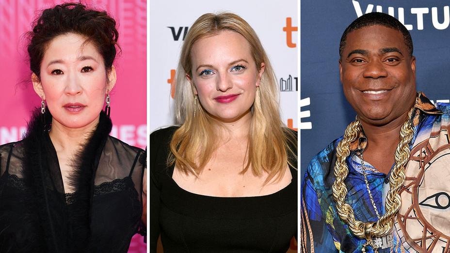 Sandra Oh, Elisabeth Moss and Tracy Morgan_Split - Getty - H 2018
