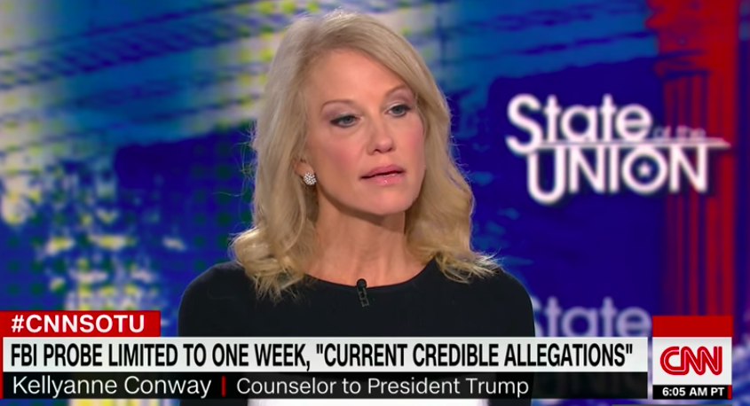Kellyanne Conway on State of the Union - H 2018 Screengrab