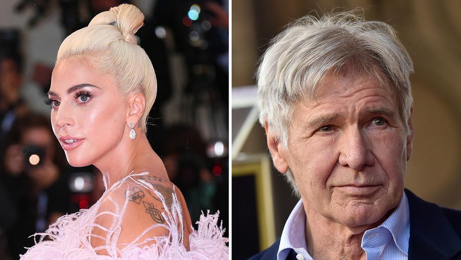 Lady Gaga Harrison Ford Split - Getty - H 2018