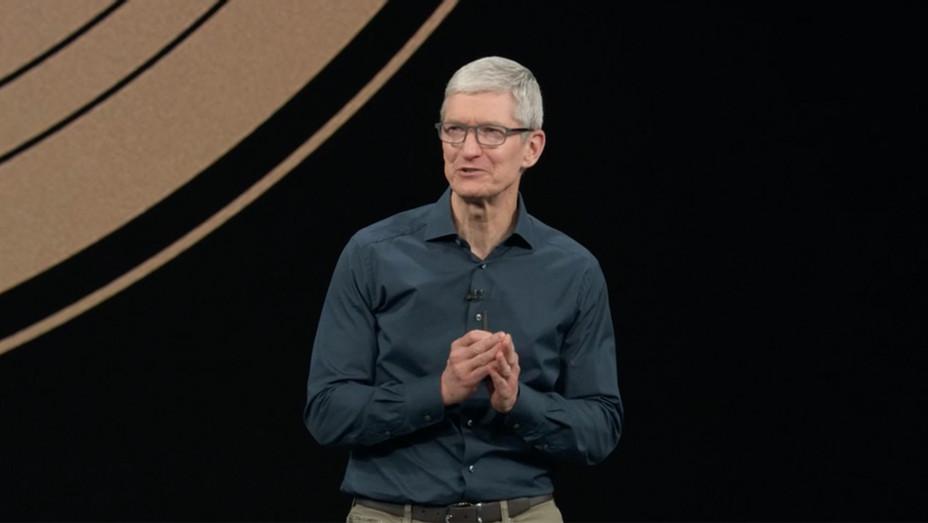 Tim Cook at Apple iPhone Event - Screengrab - H 2018