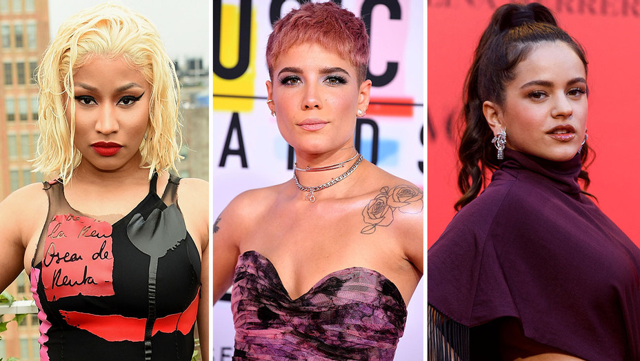 Nicki Minaj, Halsey and Rosalia - Split-Getty-H 2018