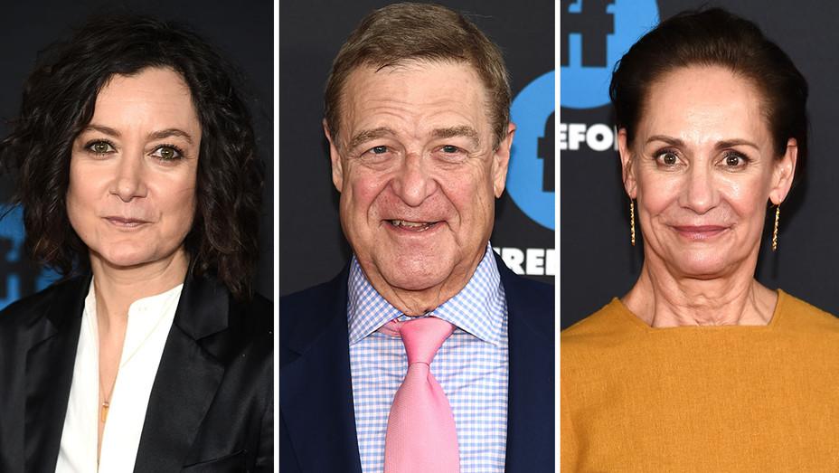 Sara Gilbert, John Goodman and Laurie Metcalf - Split-Getty-H 2018