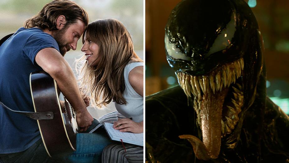 A Star is Born-Venom-Movie Still -Split- H 2018