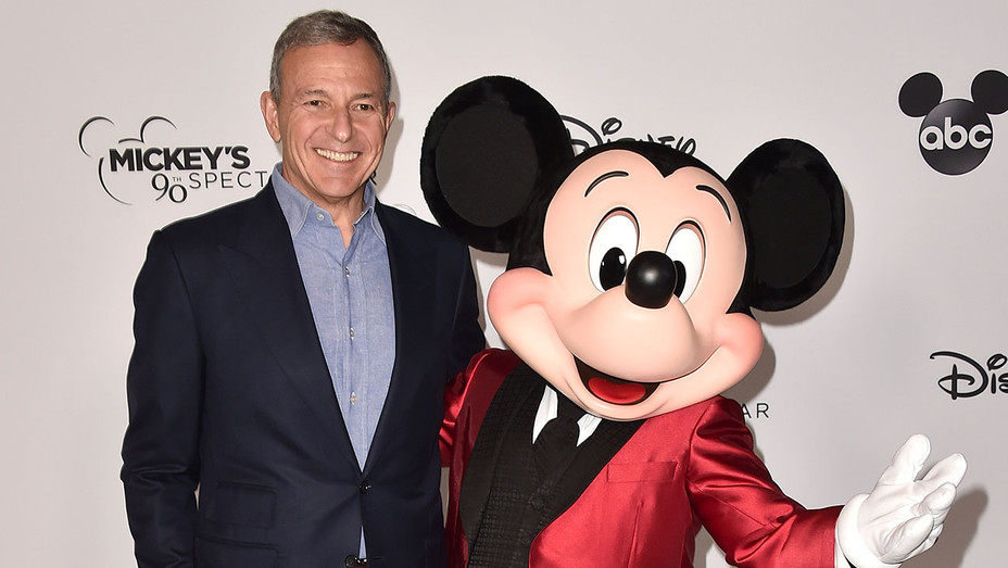 Bob Iger and Mickey Mouse attend Mickey's 90th Spectacular-Getty-H 2018
