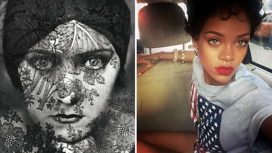 Gloria Swanson and Rihanna's Instagram - Split - ONE TIME USE ONLY-H 2018