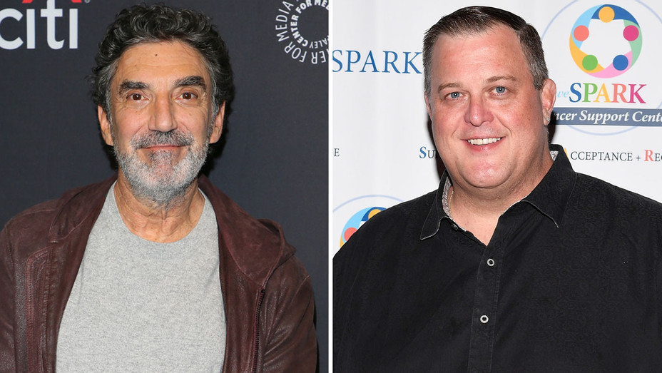 Chuck Lorre and Billy Gardell - Getty - H Split 2018