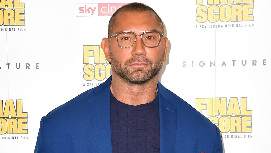 Dave Bautista attends the Premiere of 'Final Score' -Getty-H 2018