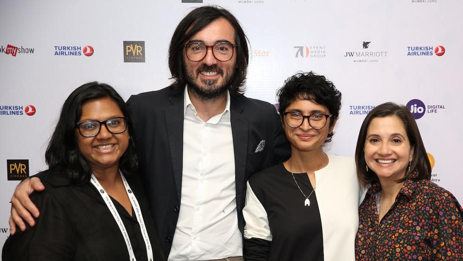 Mubi CEO Efe Cakarel with Mumbai Festival Team - H 2018