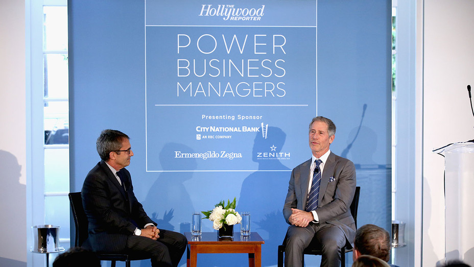 Stephen Galloway and Jon Feltheimer -The Hollywood Reporter's Power Business Managers Breakfast 2018 - Getty - H 2018