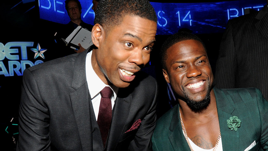 Chris Rock and Kevin Hart attend the BET AWARDS - Getty-H 2018