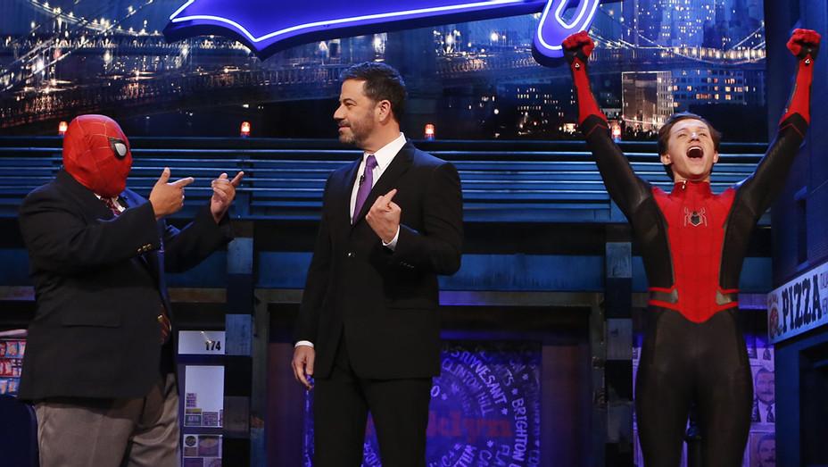 Jimmy Kimmel Live! -JIMMY KIMMEL-TOM HOLLAND-Publicity Still-H 2018