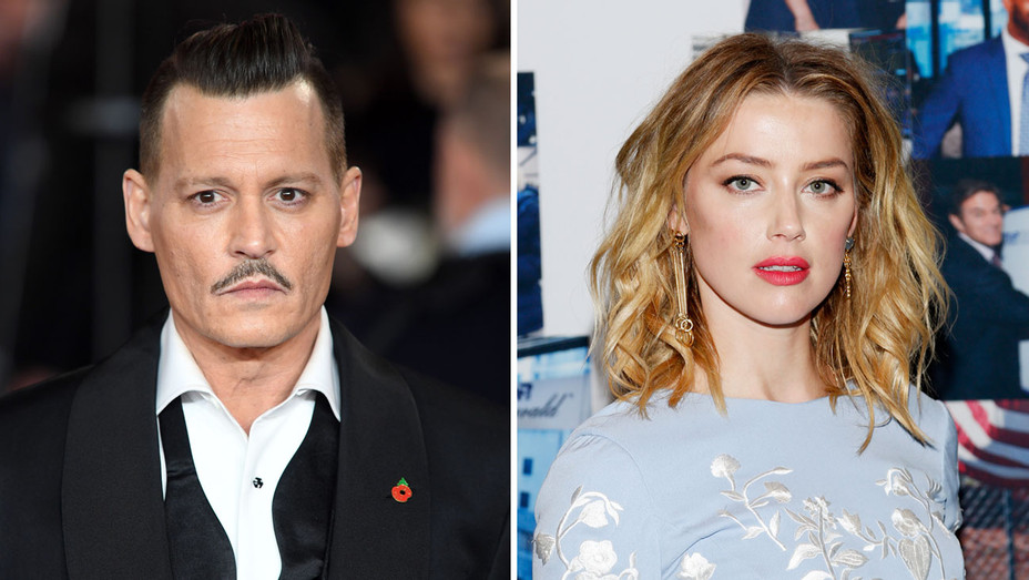 Johnny Depp Amber Heard - Getty - H Split 2018