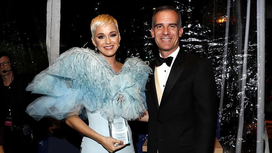 Katy Perry -Eric Garcetti attend the amfAR Gala 2018-Getty -H 2018