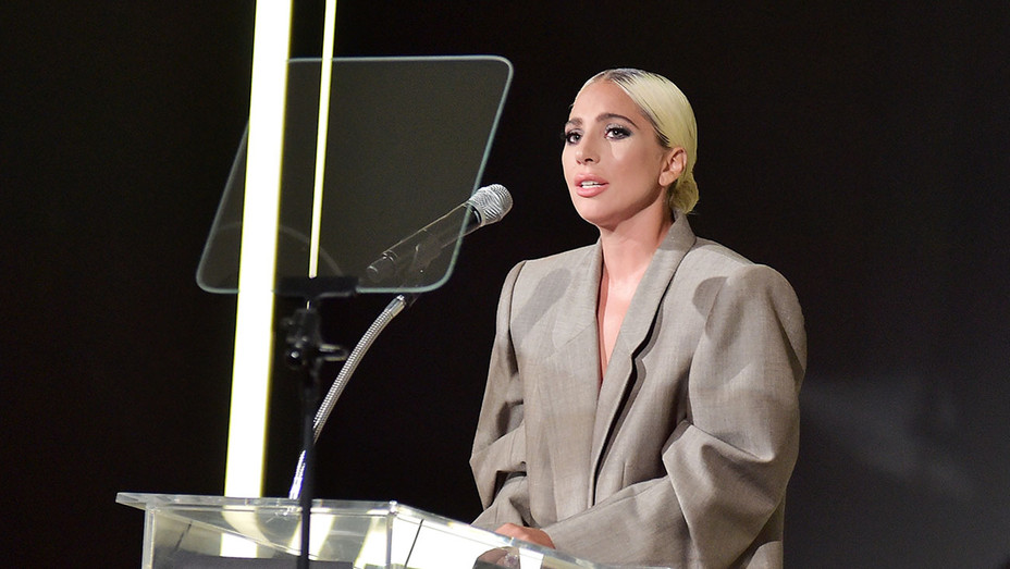 Lady Gaga speaks onstage during ELLE's 25th Annual Women In Hollywood Celebration-Getty- H 2018