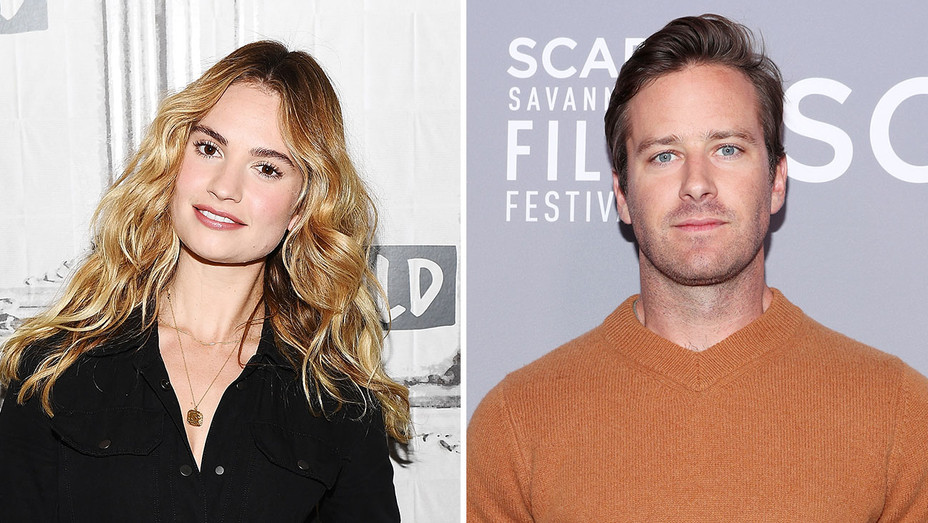 Lily James and Armie Hammer_Split - Getty - H 2018