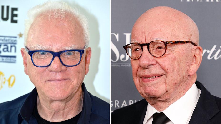 Malcolm McDowell -Rupert Murdoch-Split-Getty- H 2018