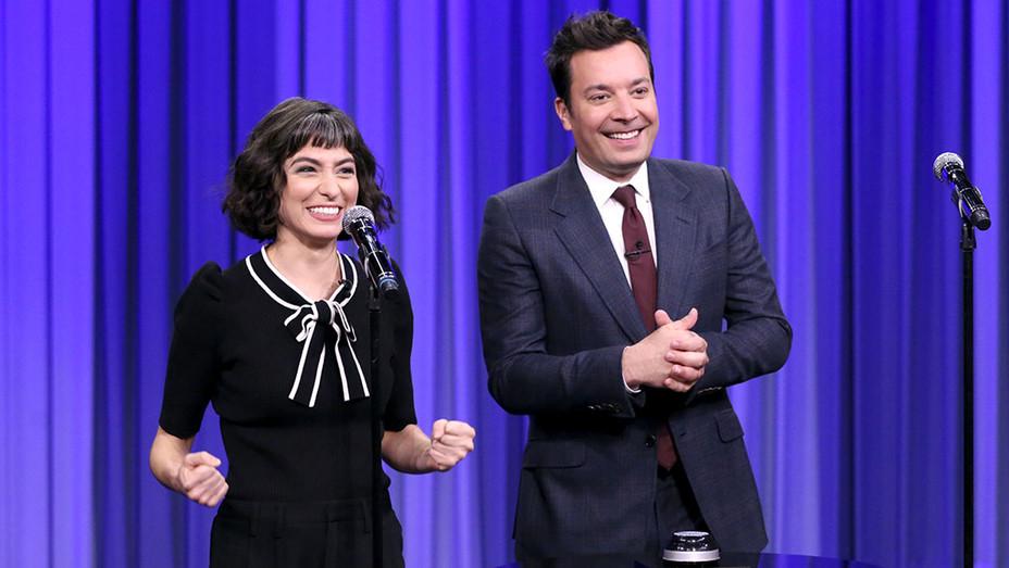 "Melissa Villasenor-Jimmy Fallon - ""Wheel of Musical Impressions""-The Tonight Show-Publicity Still-H 2018"