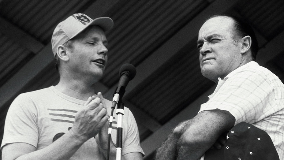 New-Bob Hope and Astronaut Neil Armstrong- 1969. Cu Chi, Vietnam- Getty-ONE TIME USE ONLY- H 2018