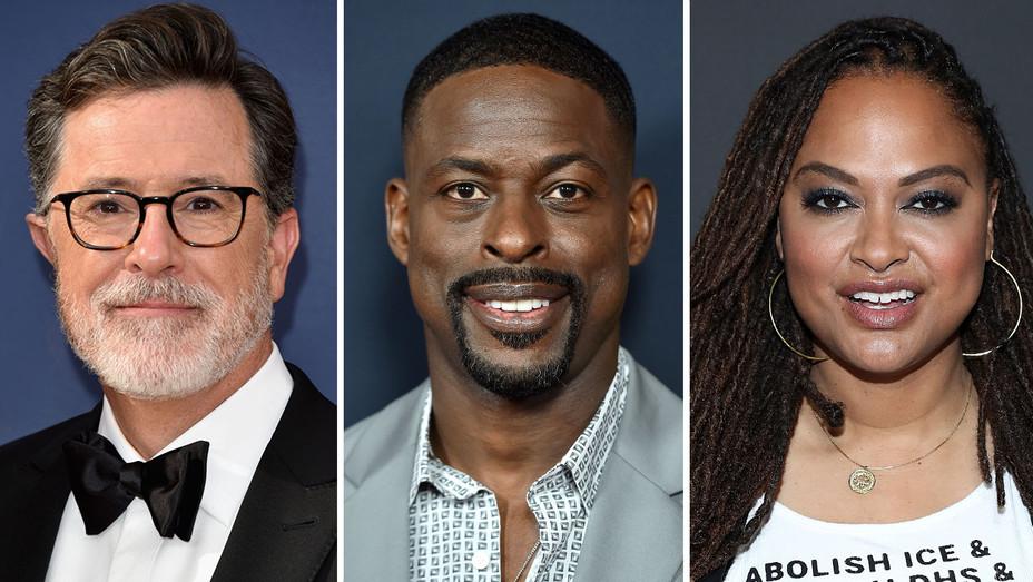 Stephen Colbert-Sterling K Brown -Ava DuVernay -Getty-Split-H 2018