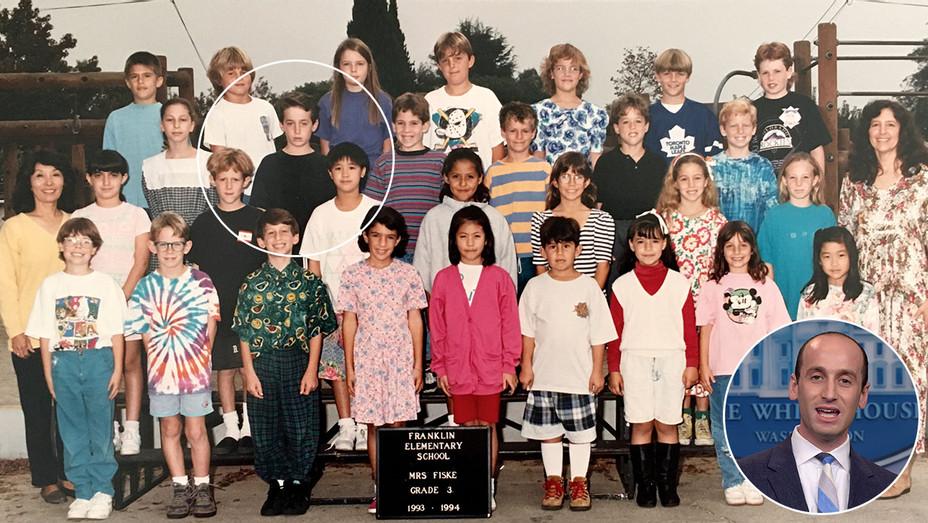 """Stephen Miller's Third-Grade Teacher Tells All """"He Was a Loner"""" - inset of Miller - h 2018"""