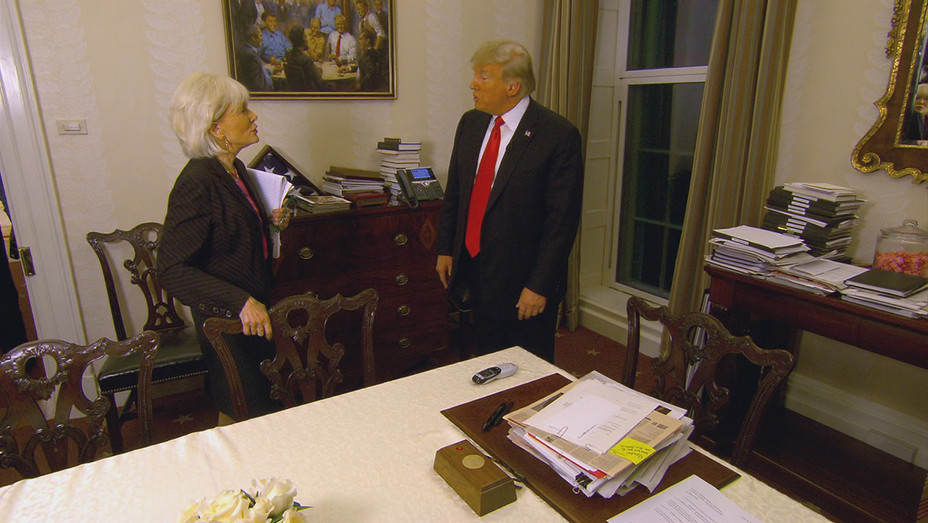 Lesley Stahl and Donald Trump on '60 Minutes' - H Publicity 2018