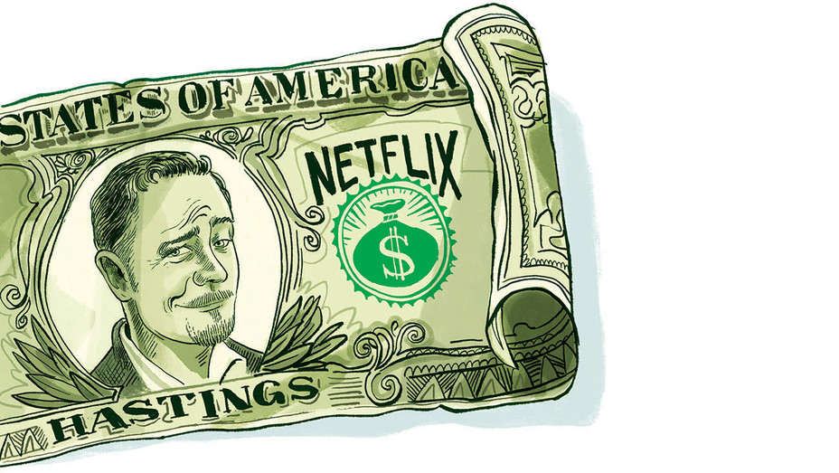 How Netflix's Shocking Salaries Set Fire to Industry's Dealmaking Practices - Illustration by Zohar Lazar-H 2018