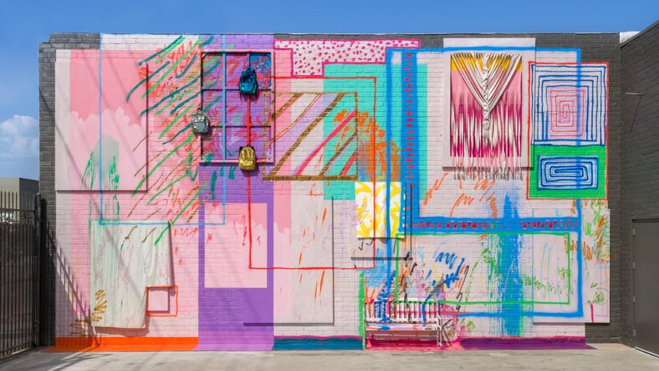 Sarah Cain ICA art piece - Publicity - H 2018