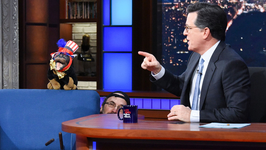 The Late Show with Stephen Colbert and guest Triumph the Insult Comic Dog - Nov 5- Publicity-H 2018