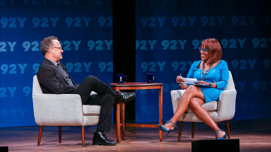 92nd St. Y - Tom Hanks in conversation with Gayle King on stage 11.1.18 - Publicity-H 2018