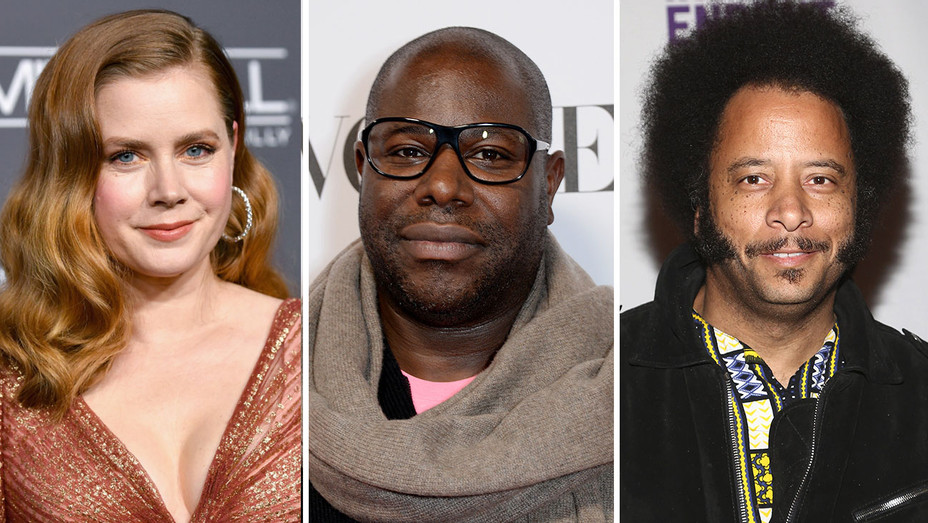 Amy Adams, Steve McQueen and Boots Riley-Split-Getty-H 2018
