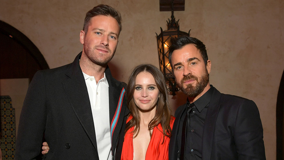 Armie Hammer, Felicity Jones, and Justin Theroux - Getty - H 2018