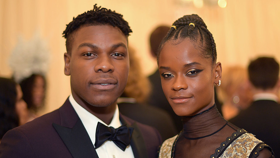 john Boyega and letitia wright - Getty - H 2018
