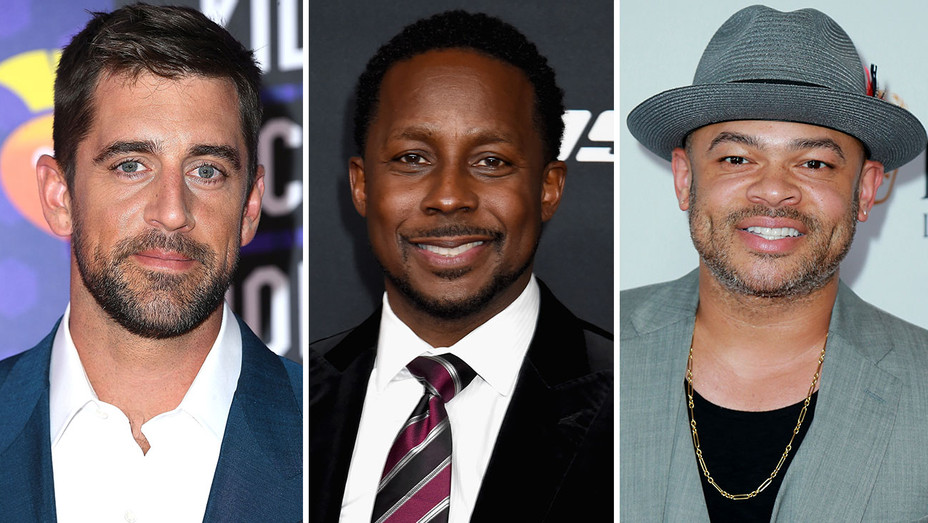 Aaron Rodgers and Desmond Howard and Anthony Hemmingway Split-H 2018