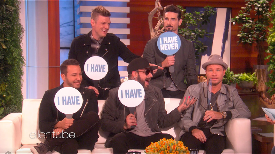 Backstreet Boys Ellen Never Have I Ever - Screengrab - H 2018