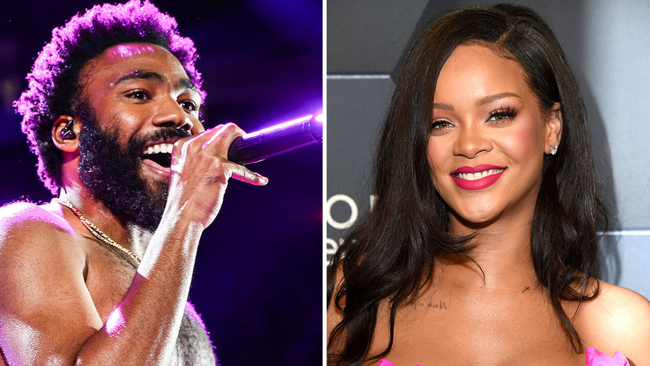 Donald Glover as Childish Gambino and Rihanna -Split- Getty-H 2018