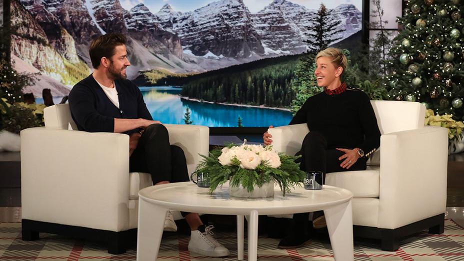 Ellen Degeneres-John Krasinski-The Ellen Show-Publicity-H 2018