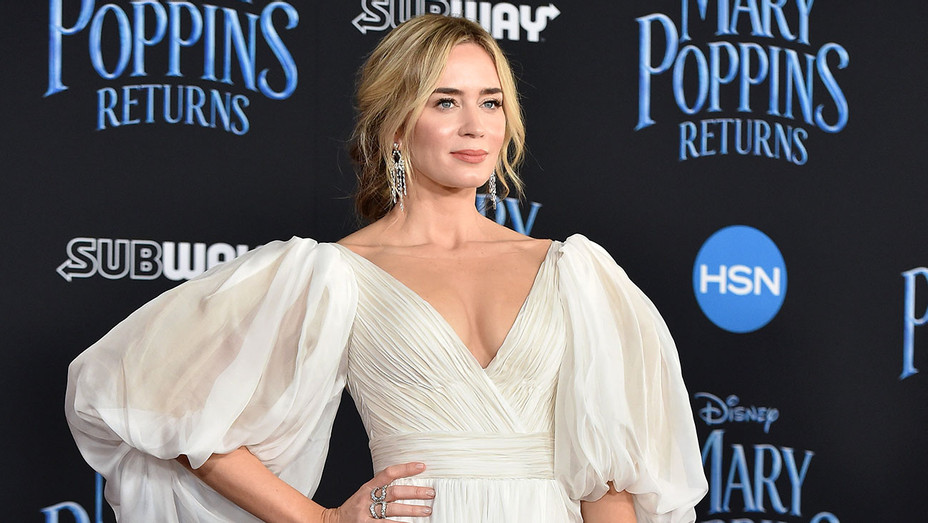 Emily Blunt attends The World Premiere of Disney's Mary Poppins Returns-Getty-H 2018