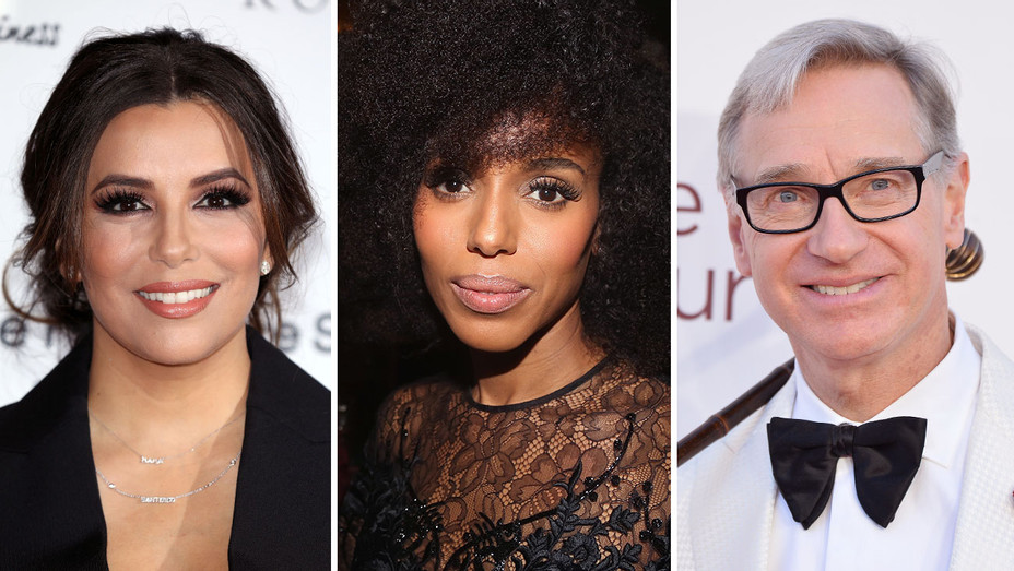 Eva Longoria, Kerry Washington, Paul Feig_Split - Getty - H 2018