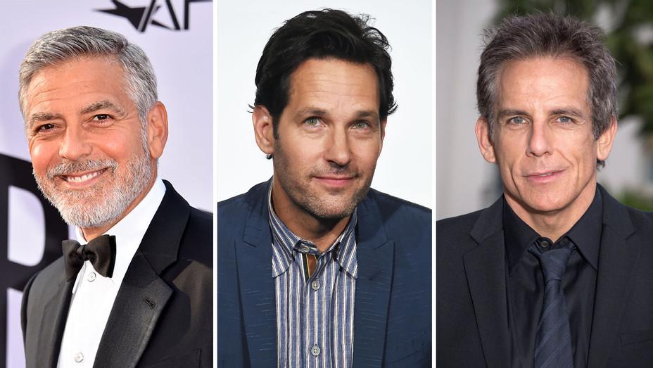 George Clooney-Paul Rudd-Ben Stiller-Split-Getty-H 2018