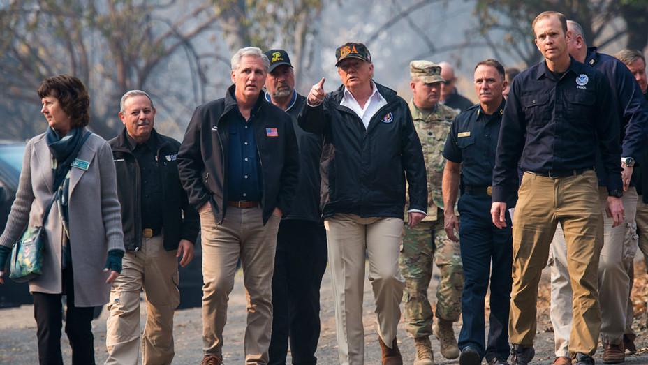 Trump visits California wildfire - Getty - H 2018